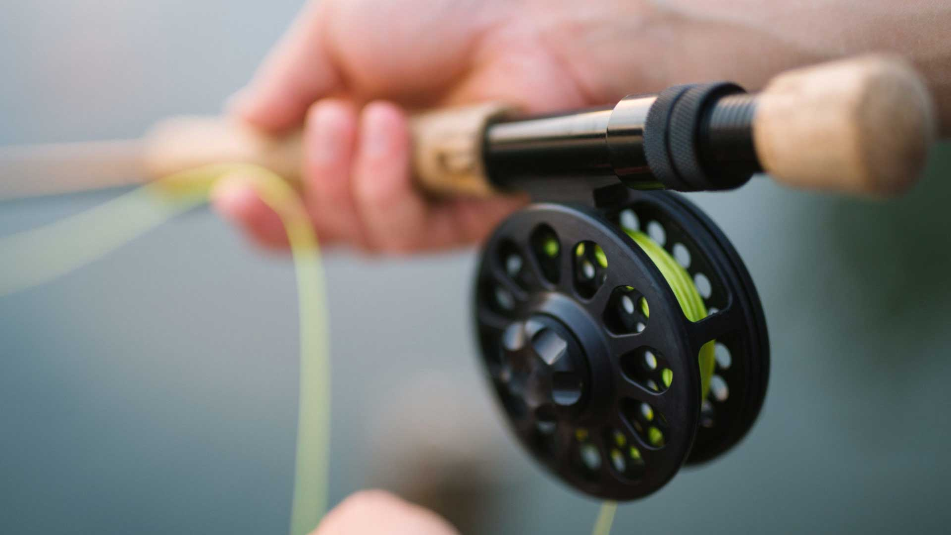 braided fishing line on fly reel