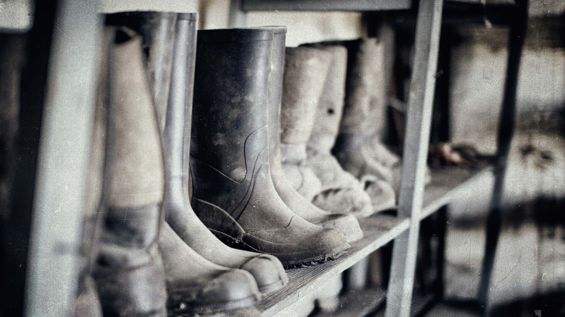 Boots on the shelf